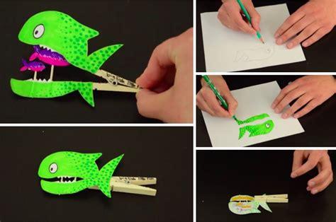 fabriquez ce dr 244 le de poisson vorace avec une pince 224 linge des id 233 es