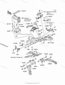 Kawasaki Motorcycle 2007 Oem Parts Diagram For Frame