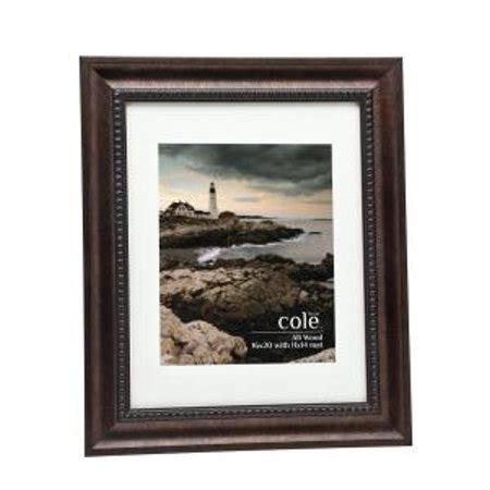 frame matted to 16x20 bronze wooden 16x20 11x14 matted picture frame with