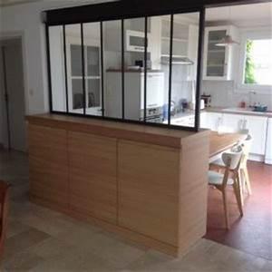 meuble verriere separation cuisine salon cna decobois With meuble pour separer cuisine salon