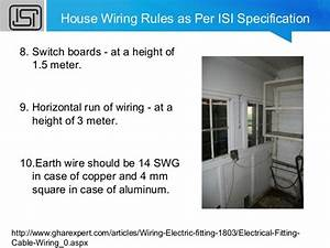House Wiring Rules And Regulations