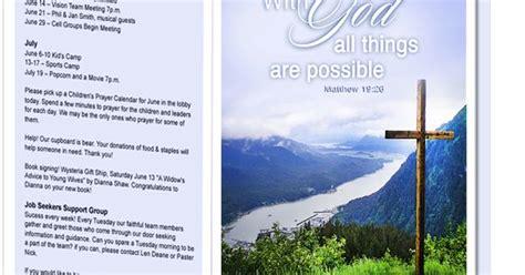 church bulletin templates mountain  god
