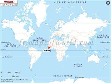 Localisation Martinique Carte Monde by O 249 Est La Guin 233 E Localisation De Guin 233 E Sur La Carte Du