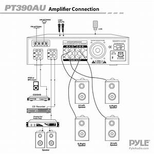 Pyle 4 Channel Home Stereo Am  Fm Receiver Amp Amplifier