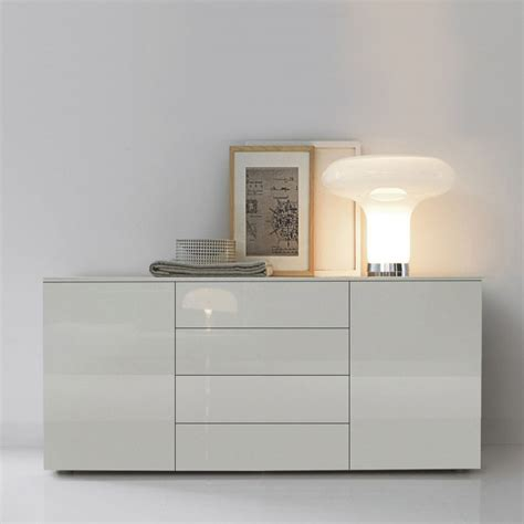 High Gloss Sideboards Uk by Space Modern White Gloss Sideboard 150cm
