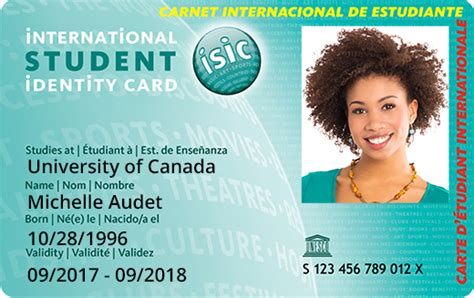Isic Card Template by Card Isic Canada