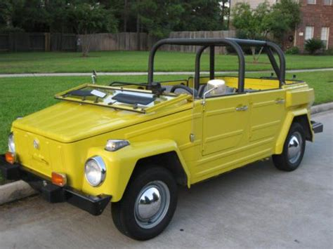 volkswagen thing yellow buy used 1974 yellow volkswagen vw thing excellent