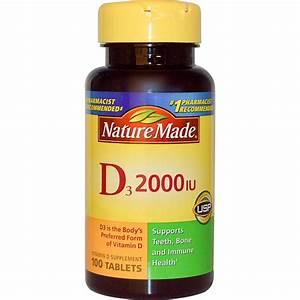 Nature Made  D3  Vitamin D Supplement  2000 Iu  100 Tablets