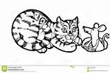 Coloring Columbine Animals Fish Cartoon Funny Colorare Colombina Sketch Drawing Drawn Rato Gato Freehand Schizzo Gatto Mouse Cat Pagina Drawinga sketch template