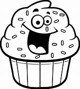 Cupcake Cupcakes Cartoon Outline Coloring Drawing Clipart Pages Amazing Drawings Gclipart Clipartmag Paintingvalley sketch template