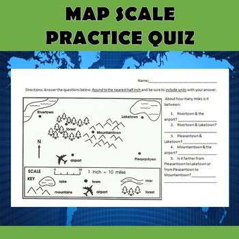Map Scale Practice Quiz By Dr Loftin's Learning Emporium Tpt