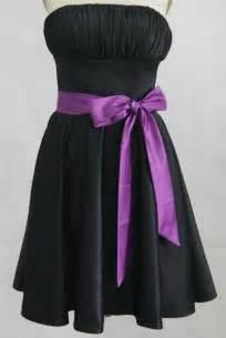 black bridesmaid dresses - Black And Purple Bridesmaid Dresses