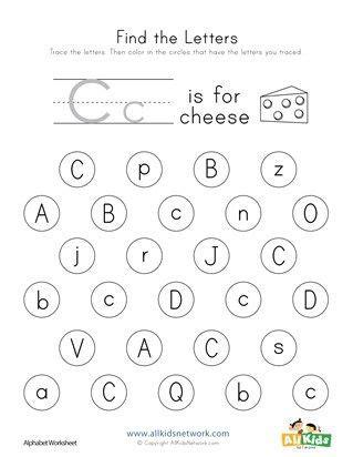 Find The Letter C Worksheet  K4  Letter C Worksheets, Letter Worksheets, Worksheets