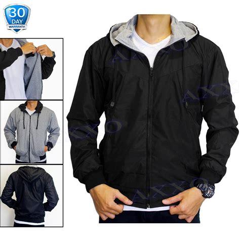 axxo jaket parasut jaket pria jaket bolak balik 2 in 1