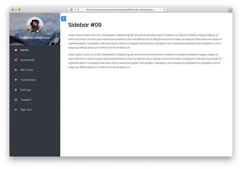 simple admin templatesidebar menu