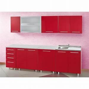 Meuble Cuisine Haut Pas Cher : meuble de cuisine rouge pas cher cuisine en image ~ Teatrodelosmanantiales.com Idées de Décoration