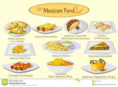 cuisine australienne colección de comida mexicana deliciosa ilustración