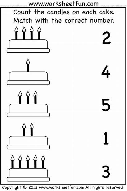 Counting Numbers Worksheets Matching Worksheet Kindergarten Match