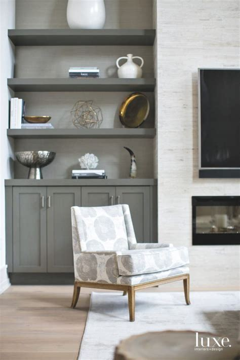 Living Room Shelves Cabinets by Tour A Newport Home With A Serene Aesthetic Luxe