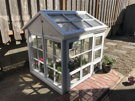 To build a diy greenhouse, see steps 3 through 10. DIY cute greenhouse from old windows | Old windows ...