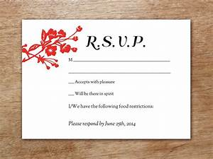 Wedding reception invitation templates free wblqualcom for Free rsvp card templates
