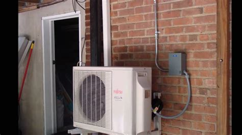 fujitsu ductless ac outdoor indoor unit youtube