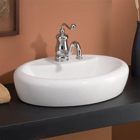 cheviot milano overcounter self rimming bathroom sink