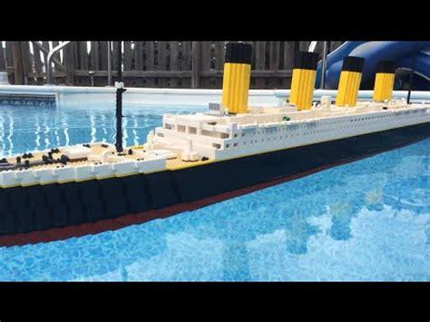 lego ship sinking in pool lego titanic doovi