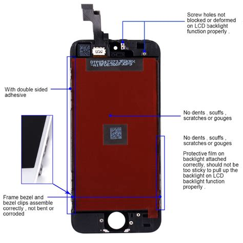 touch screen lcd display digitizer assembly black