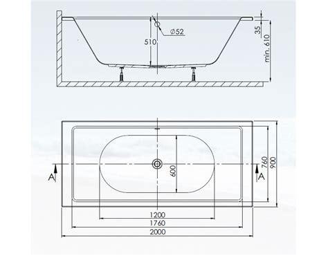 Wanne 200 X 50 by Badewanne Gro 223 E Wanne Rechteck Eckig Acryl 200 X 90 Cm