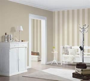Tapeten In Grau : tapete gestreift as creation creme grau 32718 3 ~ Watch28wear.com Haus und Dekorationen
