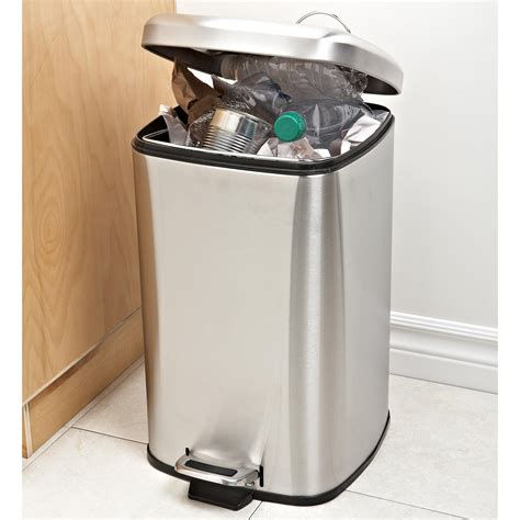 kitchen trash can ksp oscar square step garbage recycling can large