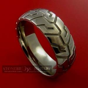Motorcycle tire tread ring clothing pinterest for Motorcycle wedding rings