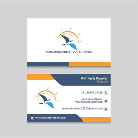 business card visiting card design    travels