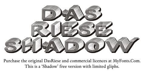 dasriese shadow font dafontcom