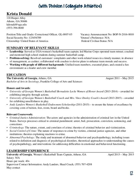 uga federal resume guide