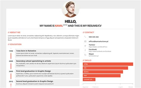 7 best responsive bootstrap cv and resume templates