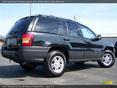 dark gray jeep grand cherokee 2003 jeep grand cherokee laredo 4x4 in brilliant black