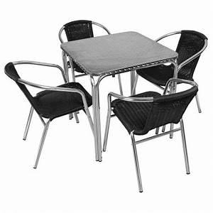 Table De Jardin Bistrot : table et chaise terrasse aluminium mobeventpro mobilier restauration ~ Teatrodelosmanantiales.com Idées de Décoration