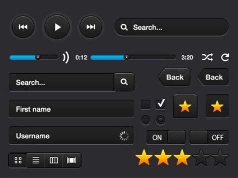black web ui design template
