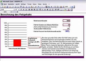 Excel Prozent Berechnen : excel vorlage berechnung des fettgehalts download chip ~ Themetempest.com Abrechnung