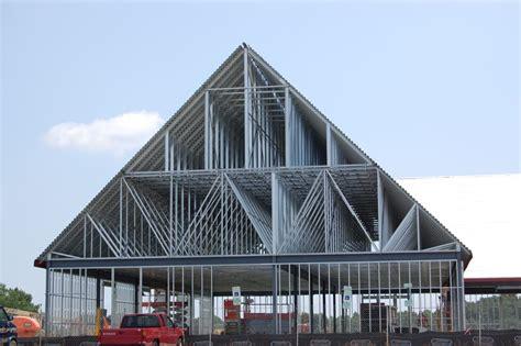 light gauge metal trusses  north carolina commercial roofs
