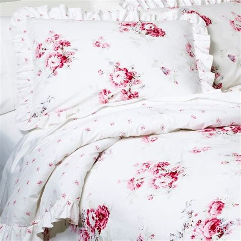 shabby chic ls at target sunbleached floral comforter set full queen pink 3pc simply shabby chic target