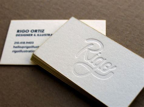 letterpress business cards design examples design