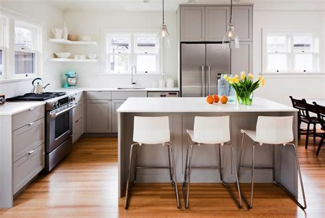 White and Gray Kitchen   Contemporary   kitchen   Sophie