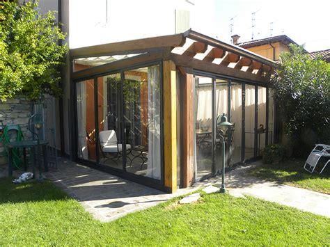 verande chiuse in legno e vetro verande in legno lamellare tendasol brescia bergamo