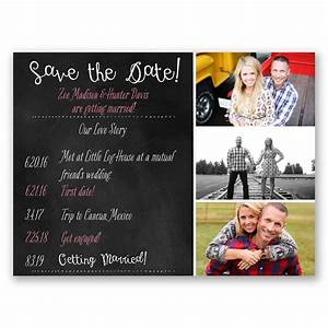 Our Love Story Save The Date Card Invitations By Dawn