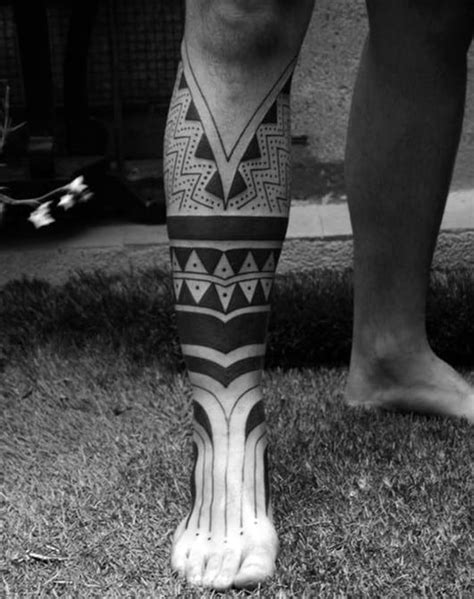 40 Tribal Foot Tattoos For Men - Manly Design Ideas