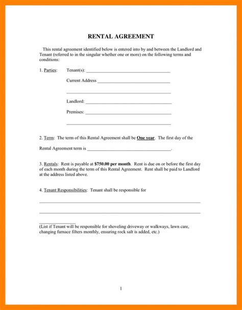 rental agreement letter residential lease agreement template shatterlion info 15480