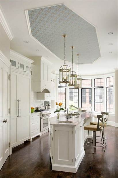 Kitchen Ceiling Ceilings Wallpapered Decorpad Trending Currently